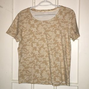 Woman's White Stag Tee Large Super Soft Cream